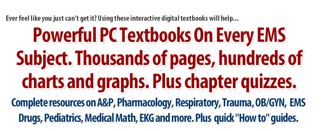 ems study help textbooks paramedic students